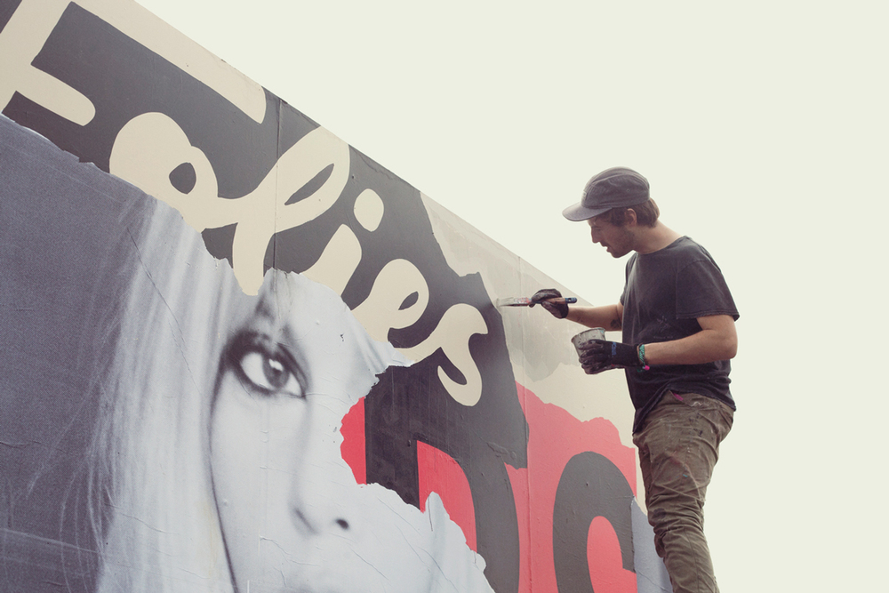 Redbull Music Academy mural, Splendour in the grass, Byron Bay 2015