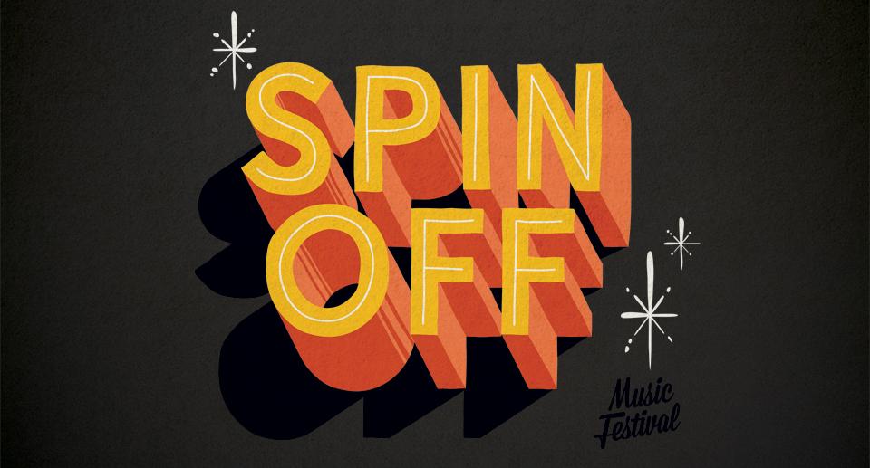 Spin off music festival Illustration branding