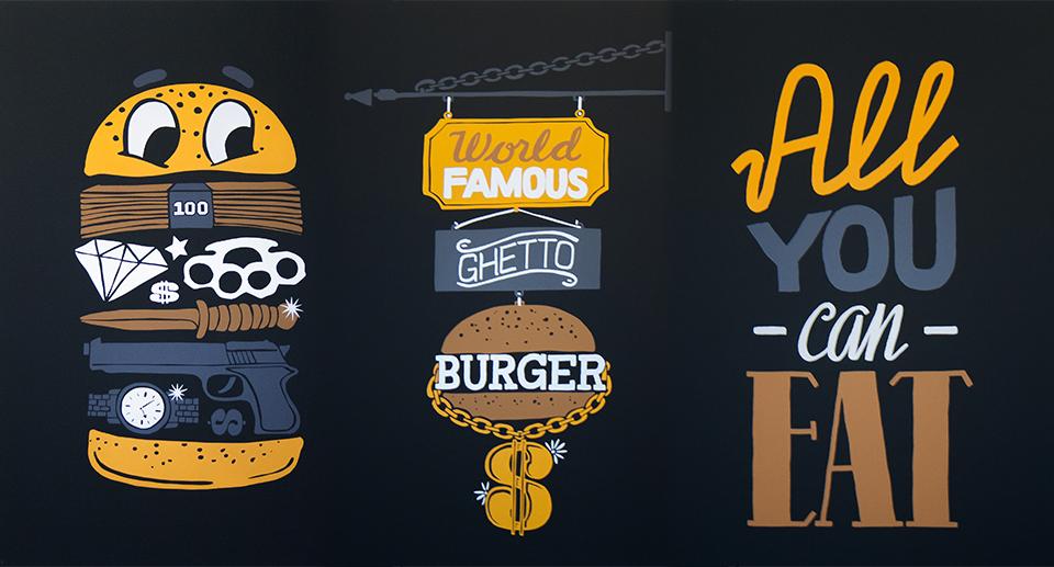 Enjoy Tasty Treats poster design & screen-print