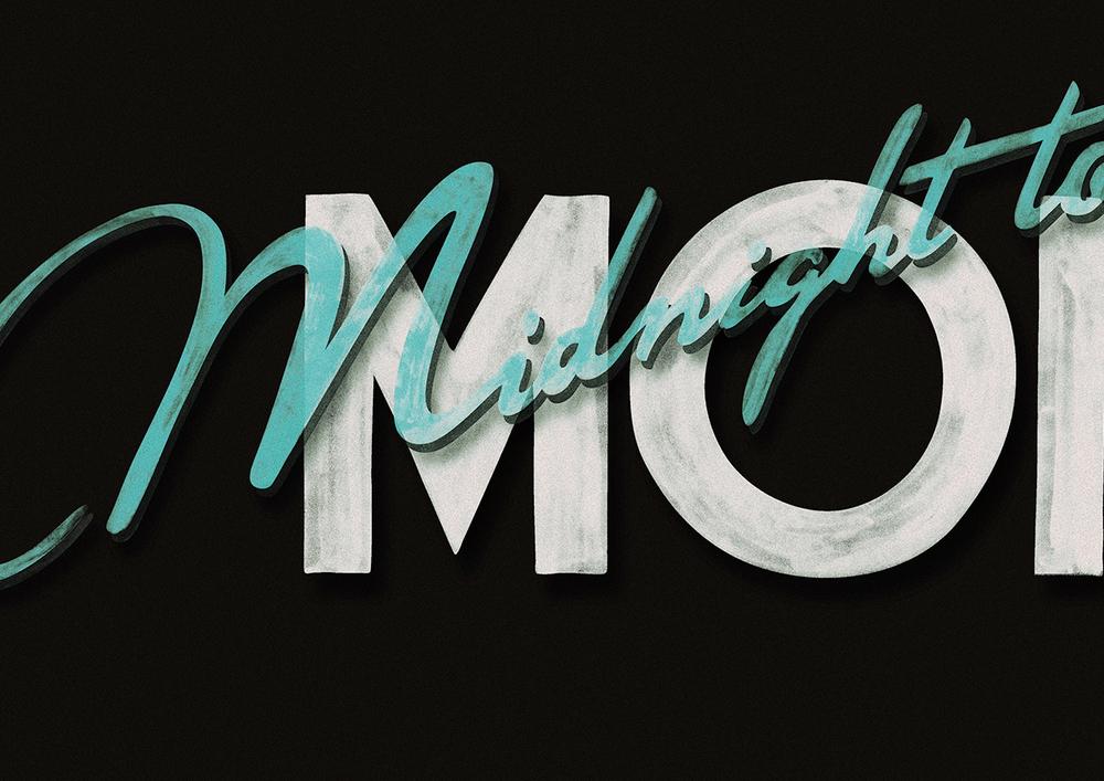 Logo development for Midnight to Monoco album