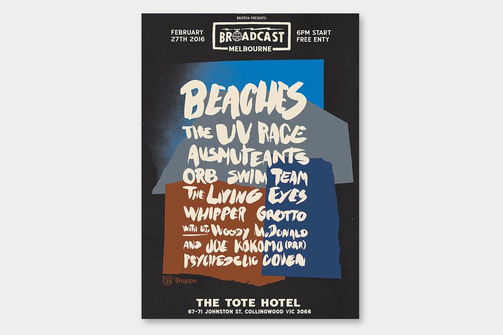 Brixton Broadcast event artwork Melbourne 2016