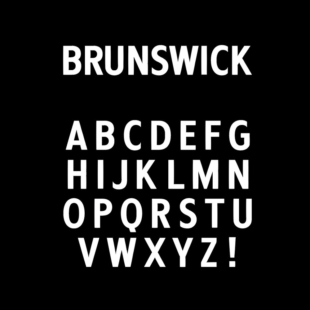 'Brunswick Egyptian' font, Personal Project 2017.