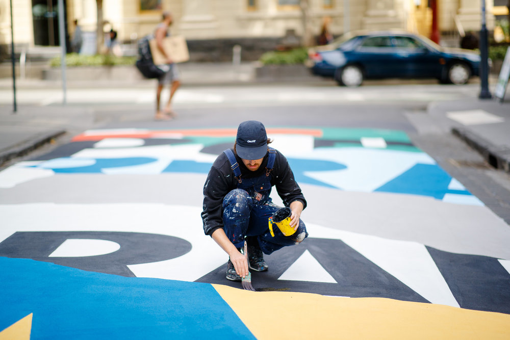 50x5metre mural for Stonnington Council, Prahran. Photo Image Play