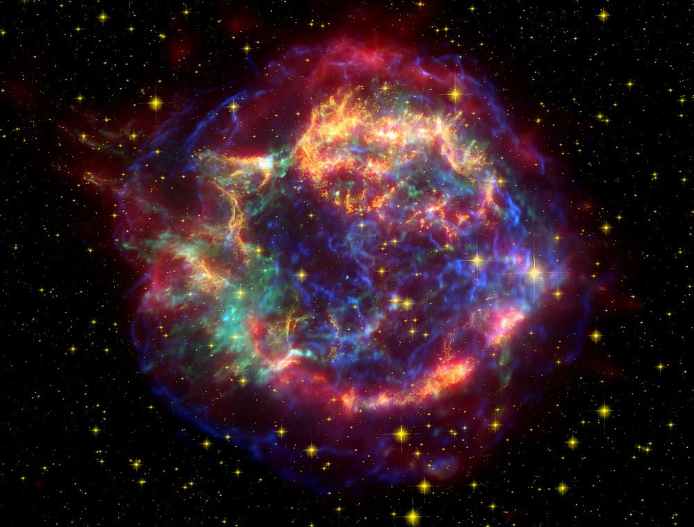 """Cassiopeia A in Many Colors"" from the Smithsonian Institution."