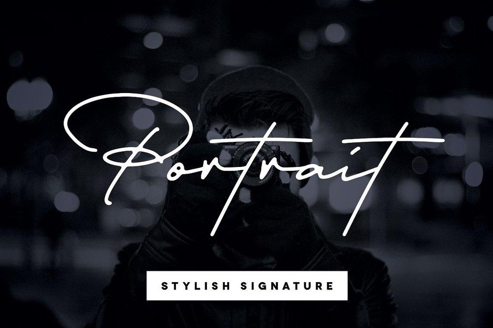 Portrait - Signature Script