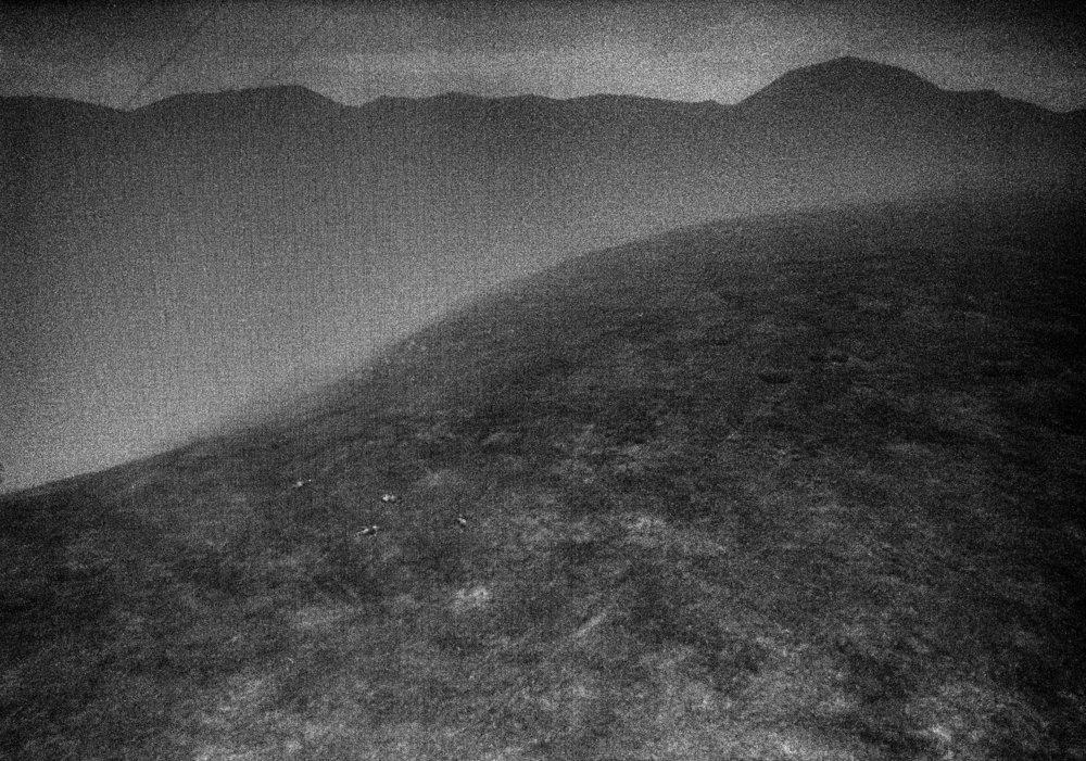 Landscape 9, hillside in fog