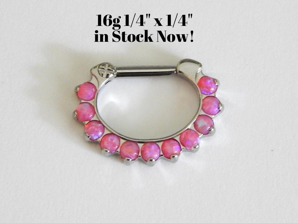 Industrial strength odyssey clicker16g 1 4 x 1 4 for Industrial strength body jewelry