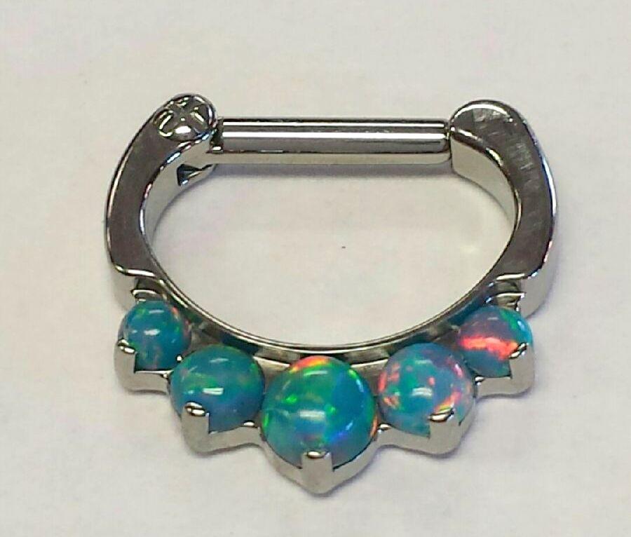 Industrial strength odyssey clicker 8 16g 1 4 x 1 4 for Industrial strength body jewelry