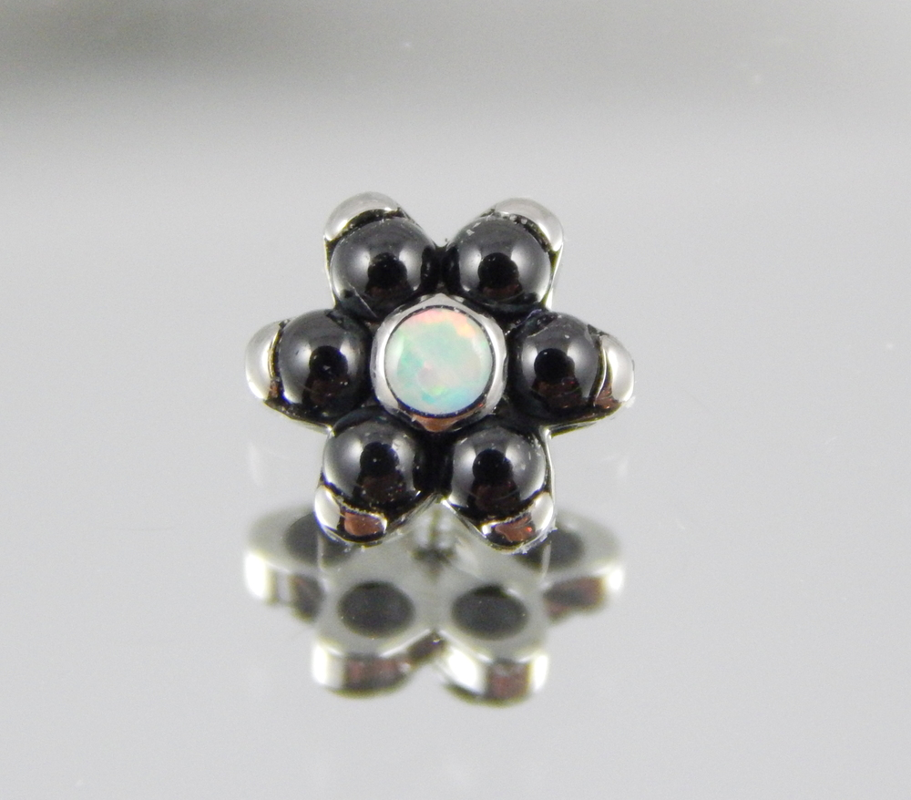 genuine black onyx & white opal