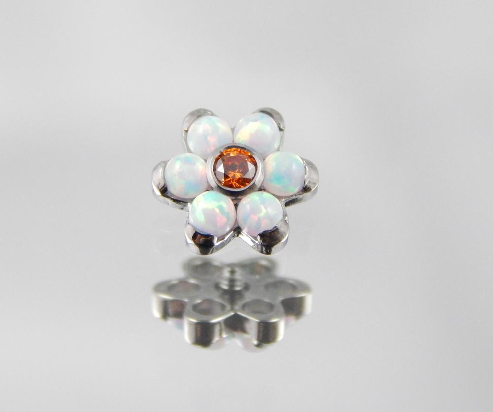 White Opal & Tangerine CZ
