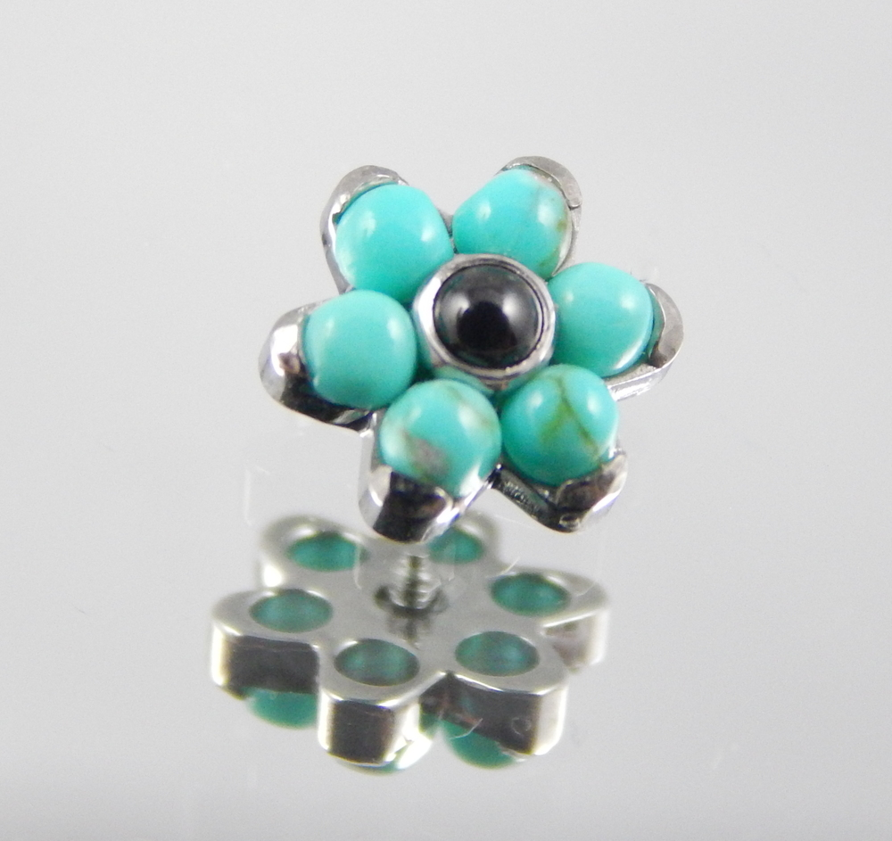 Synthetic Turquoise & Genuine Black Onyx