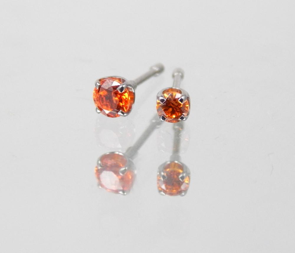 orange swarovski cz