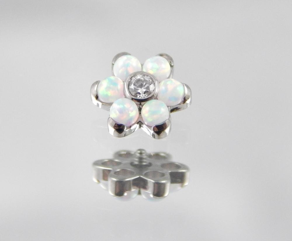 White Opal & White CZ