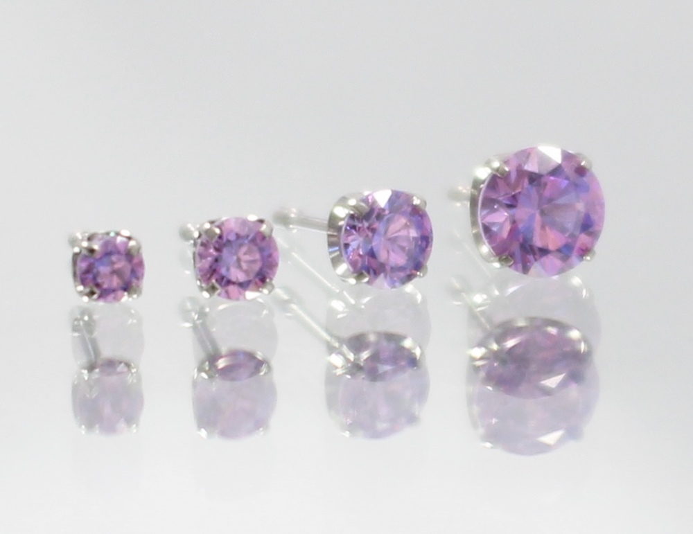 fancy purple swarovski cz