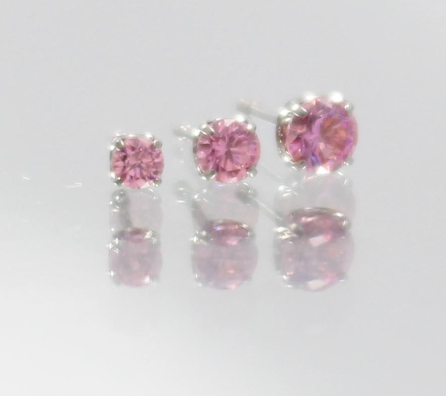pink swarovski cz