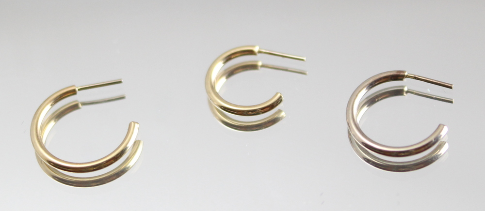 "available in white, yellow & rose gold -                         18g 1/4"" & 5/16"" only"