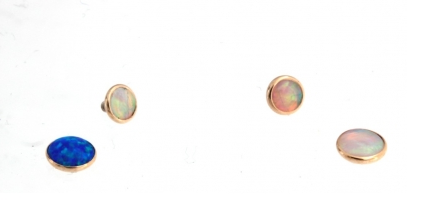 Cabochon Cup Setting shown with Opals