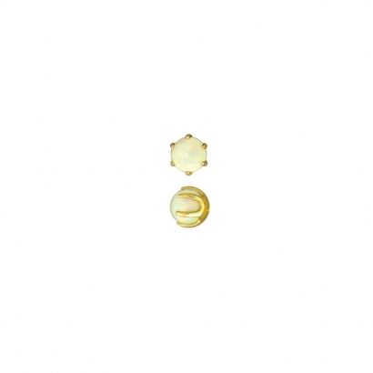Bead Prong#10-6603                                                                   Yellow Gold w/ Synthetic WhiteOpal