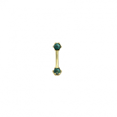 Bead Prong Curve #05-6603                                                    Yellow Gold w/ Synthetic Black Pearl