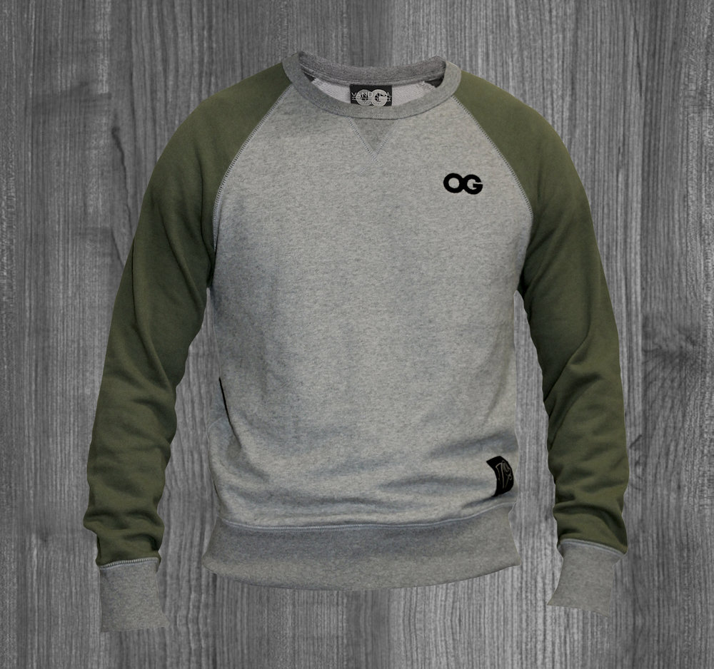 OG crew OLIVE GREY. BLACK MINI.jpg