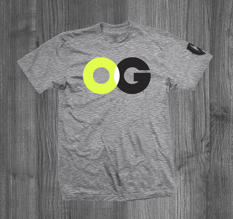 b85180cad2e OG tee HEATHER GREY NEON YELLOW WHITE BLACK — Vandal-A