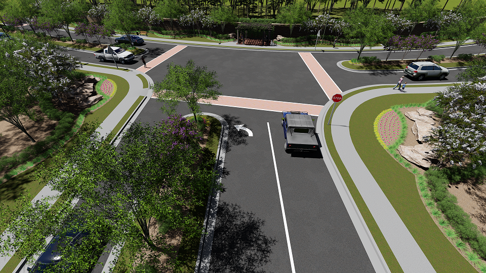 Northerly View Towards New Intersection.png