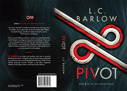 Here's one of Bookfly's recent full cover designs ( Pivot , by L.C. Barlow).