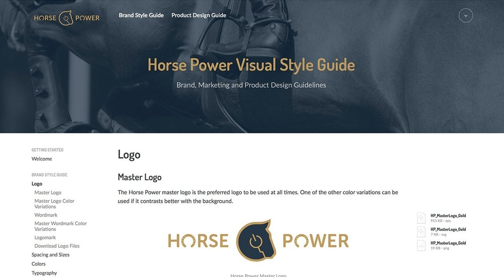Designed and maintain online brand style guide