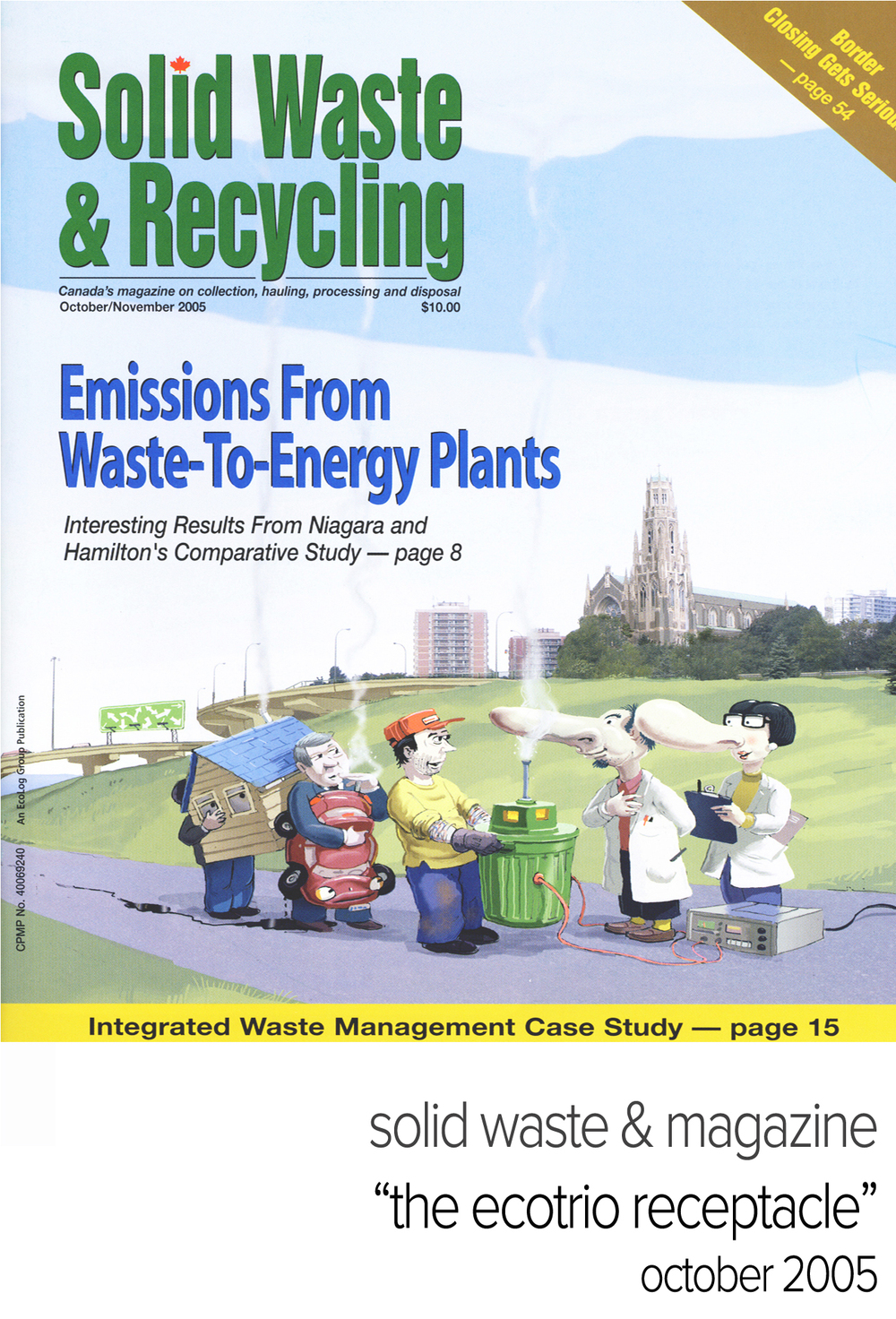 "ecotrio recycling containers:  solid waste & recycling magazine, ""the ecotrio receptacle"" october 2005"