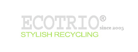 Stylish, Elliptical Shaped, Commercial Recycling Bins | EcoTrio®, LLC