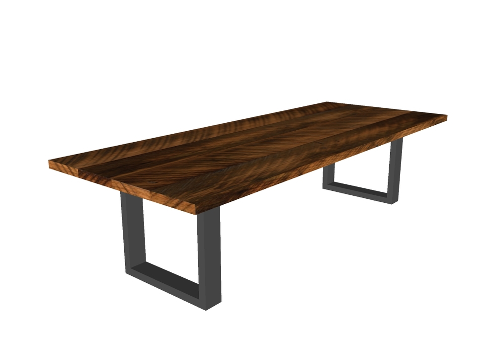 Industry Reclaimed Wood U Shape Table And Bench Urban Tables