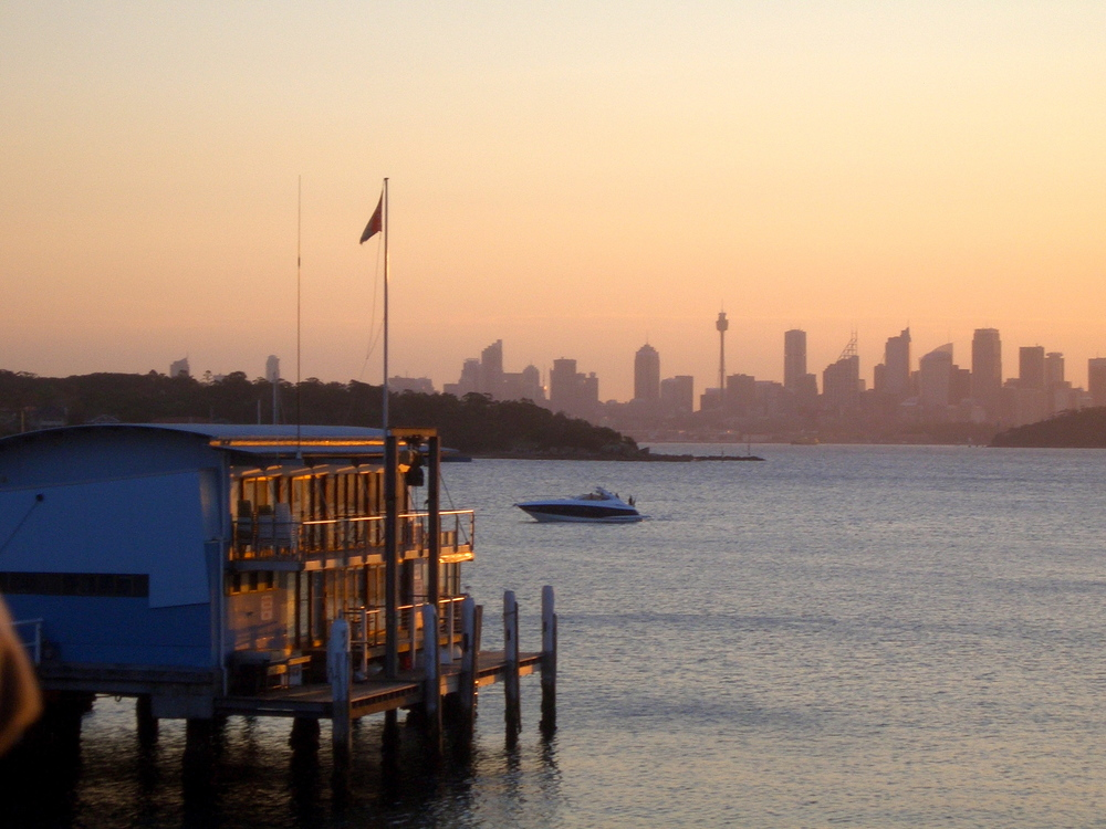 The view from Watsons Bay hotel