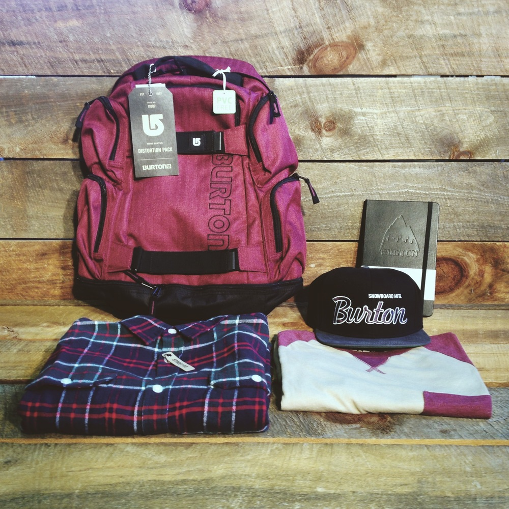 New Burton Fall line just dropped. Some great flannels, kniited tees, hats, & packs, coming with a limited supply of FREE Burton / Moleskine notebooks!