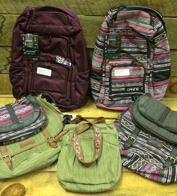 Dakine did a great job with this season's women's line. Tons of new styles to pick from for your day to day bag needs.