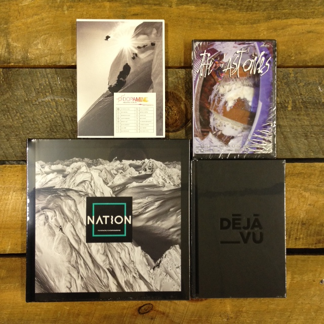 Absinthe films Dopamine, Videograss The Last Ones,  Transworld Snowboarding Nation,  and Deja Vu  Deja Vu The Film.