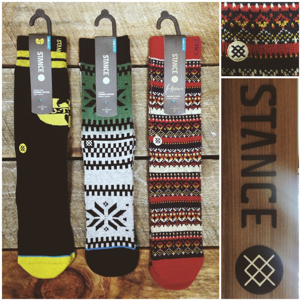Steeze out with your feet out with a fresh pair of Stance Socks. They've got your feet covered with anything from a Wu-Tang Combed Cotton to a argyle Cashmere. Get em while they're hot!