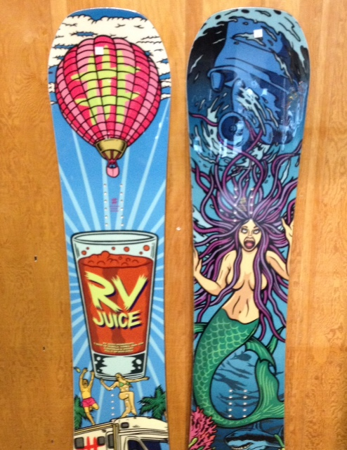 #Lobster Snowboards  Parkbaord Special Addition and Jibbaord Special Addition, featuring TBT technology. Come in and check out all the new 2014 boards