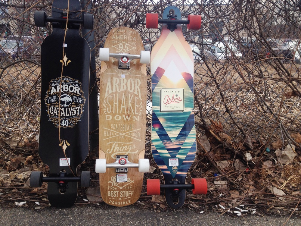 Added Arbor Skateboards to the longboard quiver this year.. Graphics are sick! Come give 'em a look!