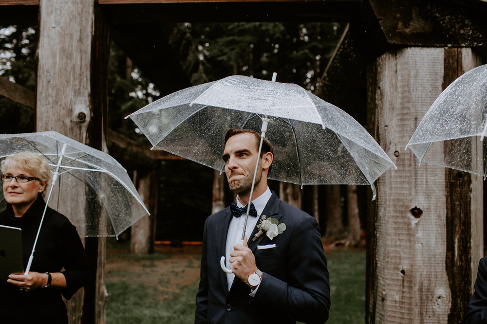 Rainy Day Wedding in Whistler - Vancouver Destination Wedding Photographer