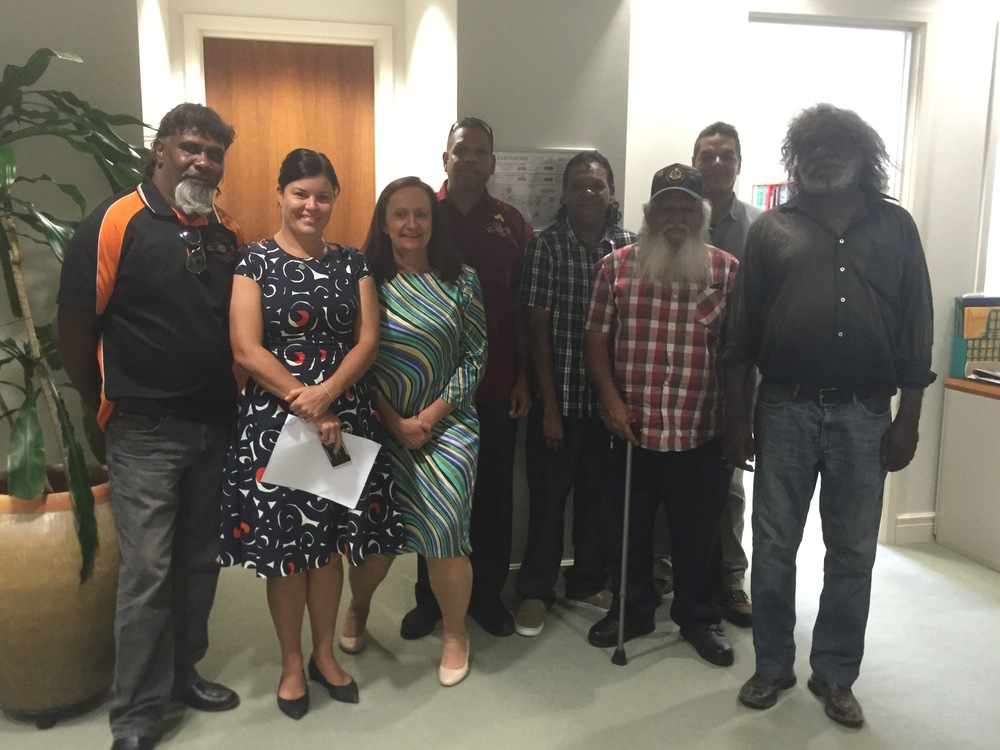 Members of the Tangentyere Council executive meeting with the Public Accounts Committee chair Robyn Lambley MLA and member Natasha Fyles MLA.  With the assistance of Mandy Taylor Solutions, Tangentyere successfully lobbied for the PAC to investigate the management of Town Camps by the NT Government. The integrated campaign involved targeted and strategic lobbying, media coverage and relationship building.