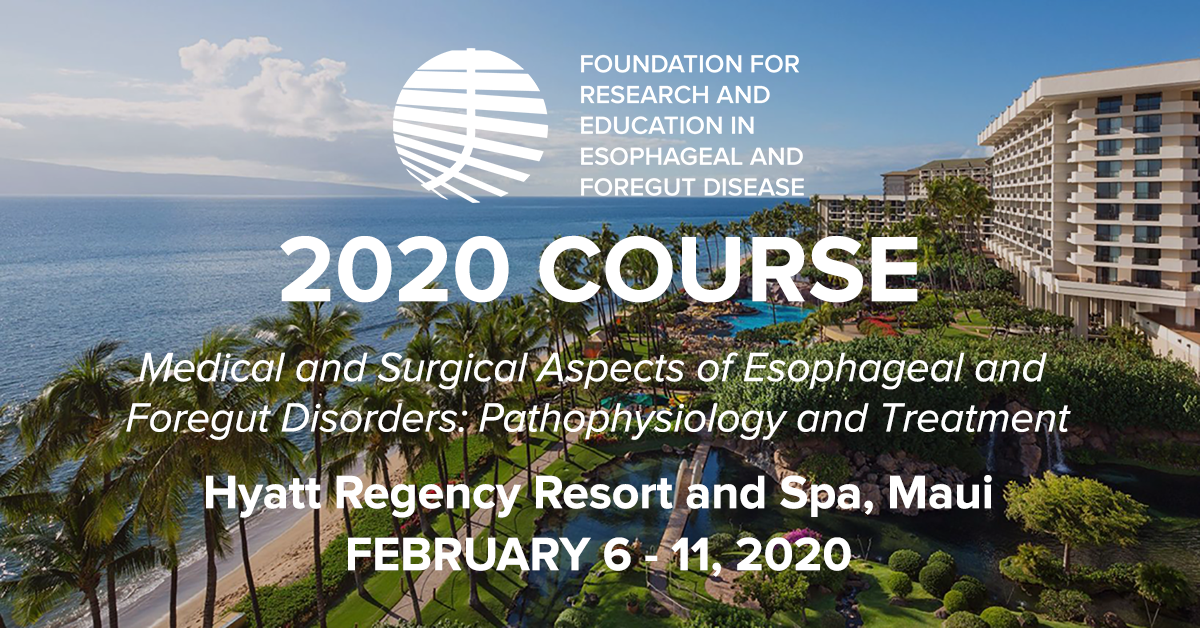 2020 Hawaii Course — Foundation for Research and Education