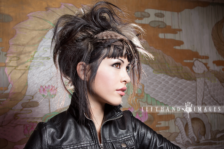 Photo by Left Hand Images; hair by Be Headed Salon Painting behind me by Yuko Yabuki.