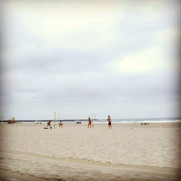 Morning #beach #volleyball #sandiego (Taken with  Instagram )