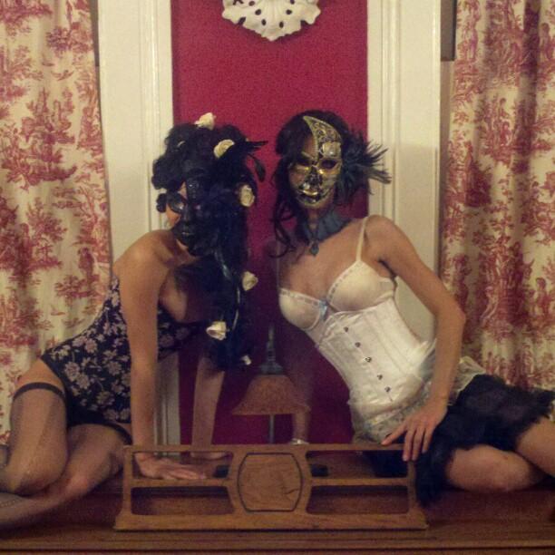 Masked #style #mardigras #neworleans (Taken with instagram)