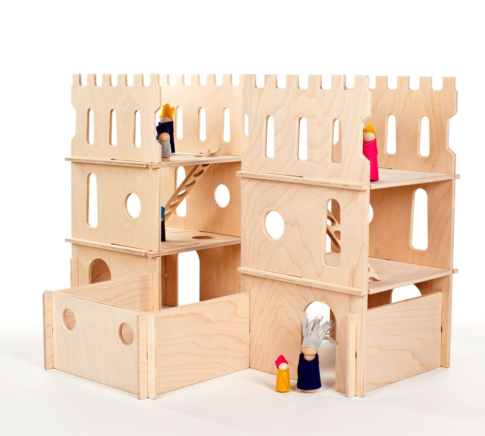Building Wooden Toys : Modular wood castle towers playset — manzanita kids