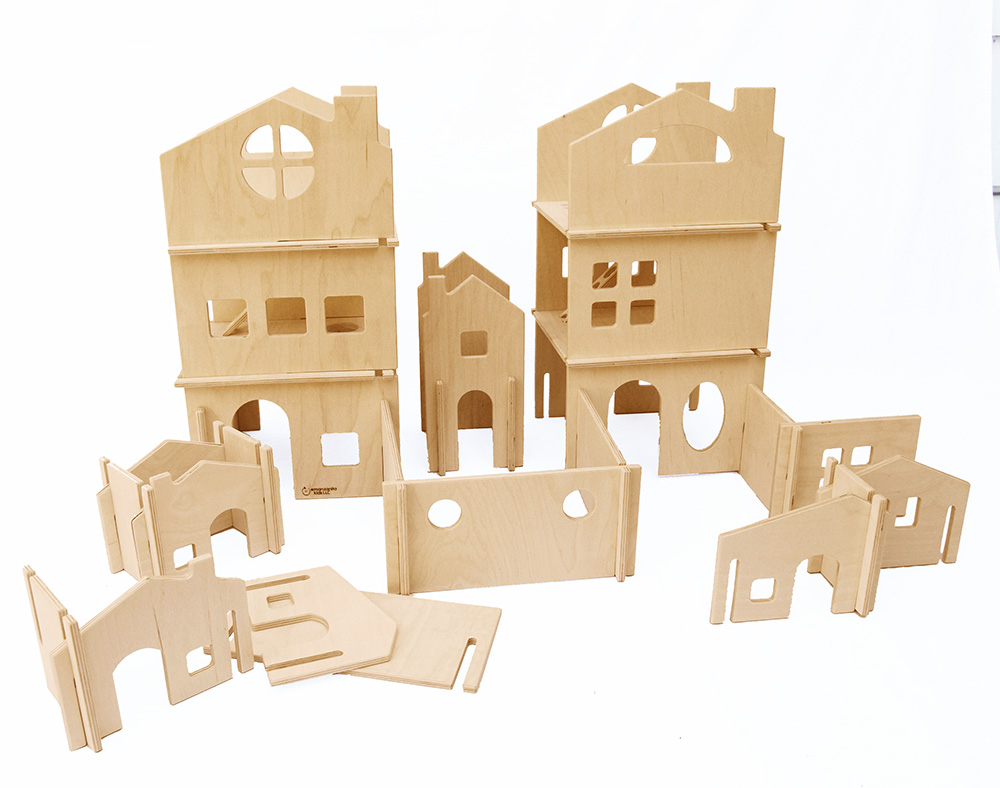 Modular Dollhouse Tower and House Building Walls — Manzanita Kids