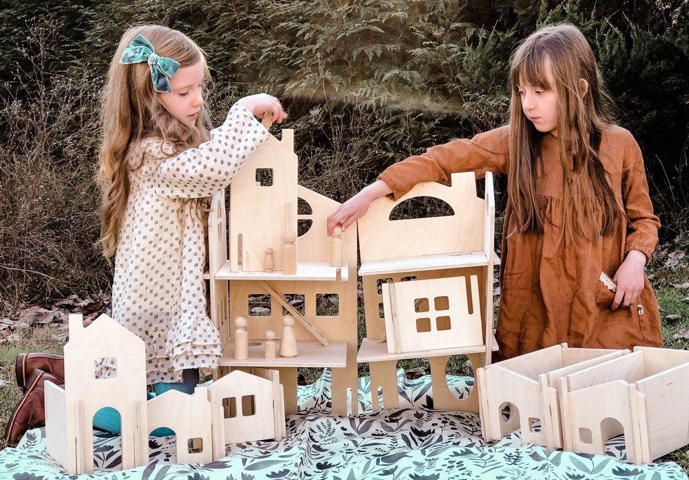 Modular Wood Dollhouse & Wood House Building Walls