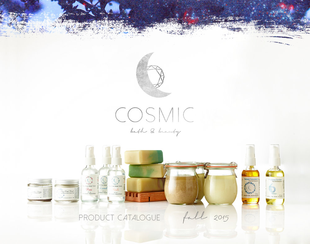 Cosmic Bath & Beauty - brand design by Spirit & Haven