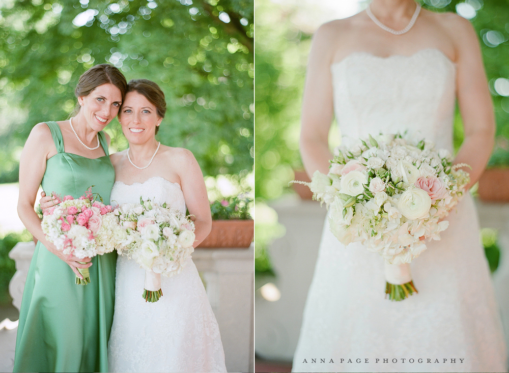 Blush, pink wedding bouquets