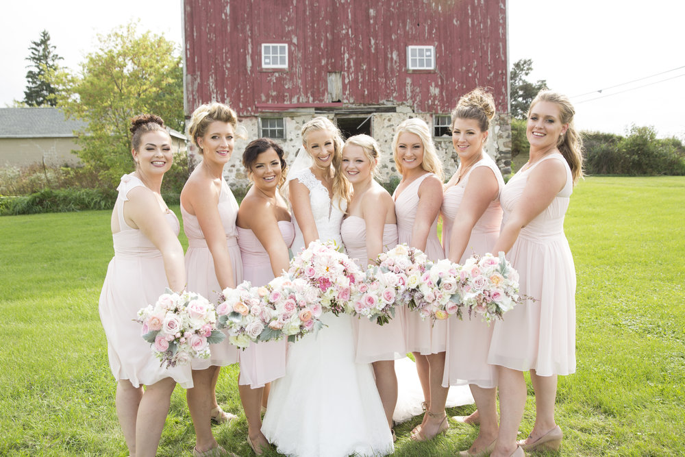 Pink and blush bouquets